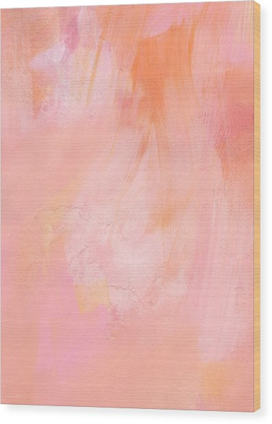 Blush- Abstract Painting In Pinks Wood Print