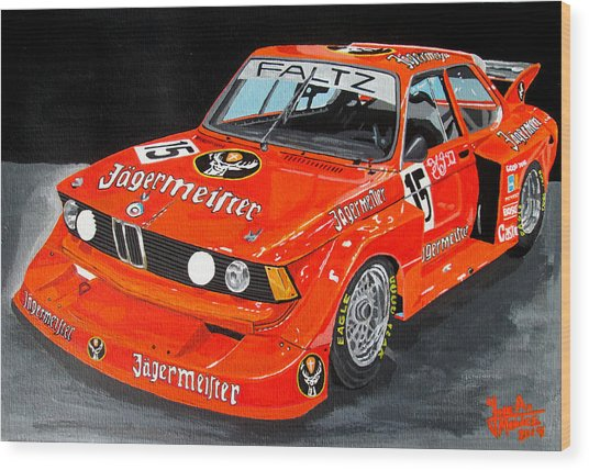 Bmw 320 Wood Print by Jose Mendez