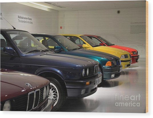 Bmw Cars Through The Years Munich Germany Wood Print
