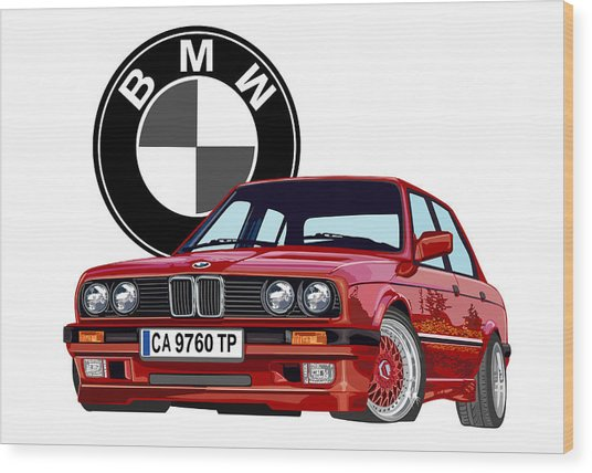 BMW Wood Print by DARRYL McPHERSON
