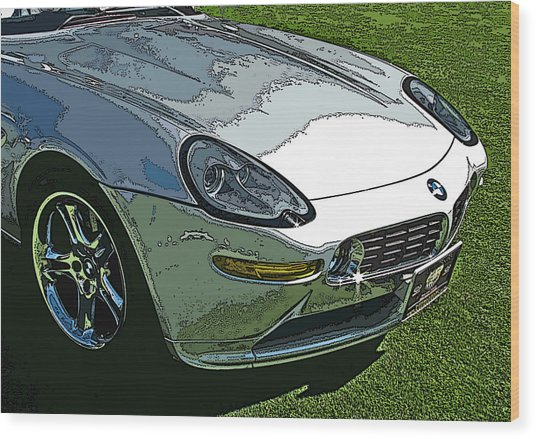 Bmw Z8 Nose Study Wood Print
