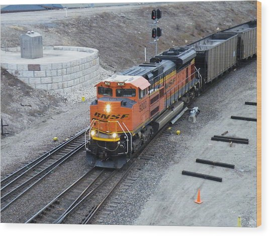 Bnsf Kc Rail Yards Wood Print