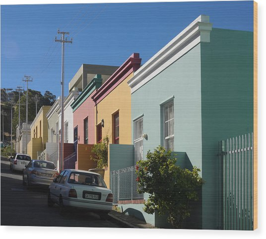 Bo Kaap Houses Wood Print