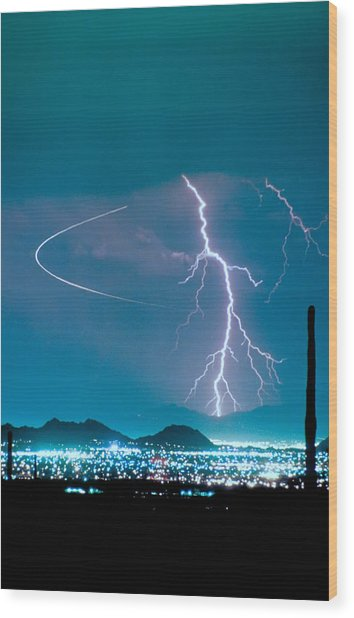 Bo Trek The Lightning Man Wood Print