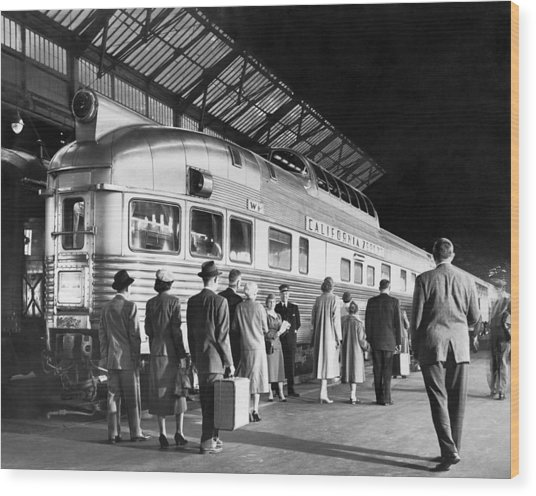 Boarding The California Zephyr Wood Print