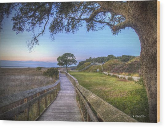Boardwalk To History Wood Print