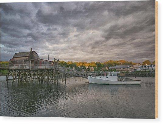 Boat House Wood Print