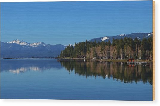 Boat House Lake Tahoe Wood Print