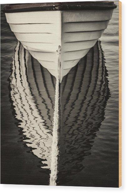 Boat Mirrored Wood Print