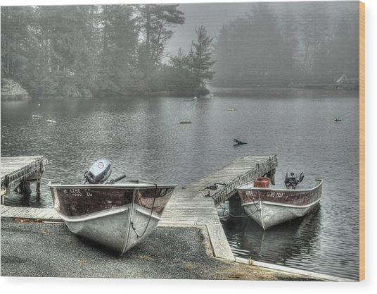 Boat Rental Wood Print