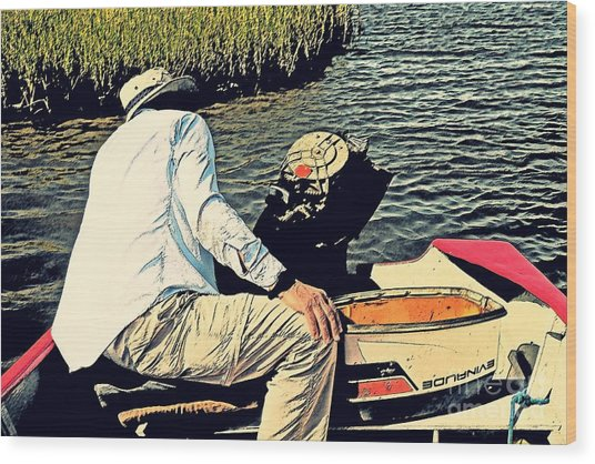 Boating On The Bay Wood Print by Scott Allison