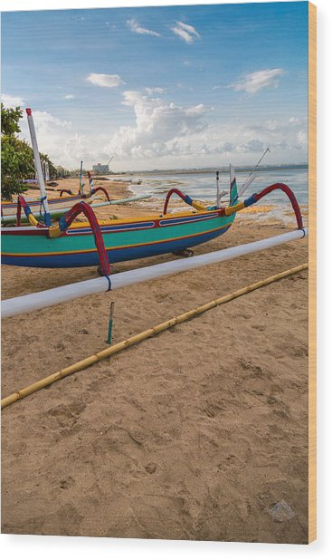 Boats - Bali Wood Print