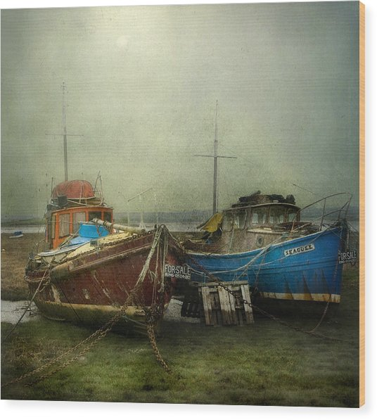 Boats For Sale Wood Print