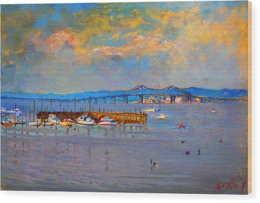 Boats In Piermont Harbor Ny Wood Print