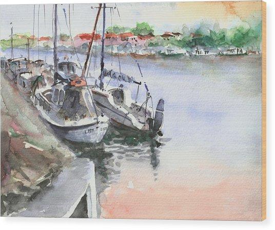 Boats Inshore Wood Print