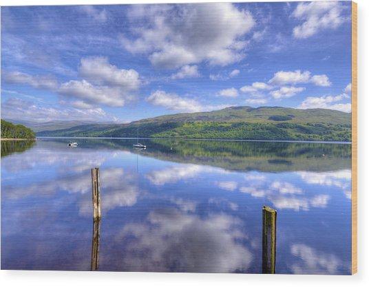 Boats On Loch Tay Wood Print