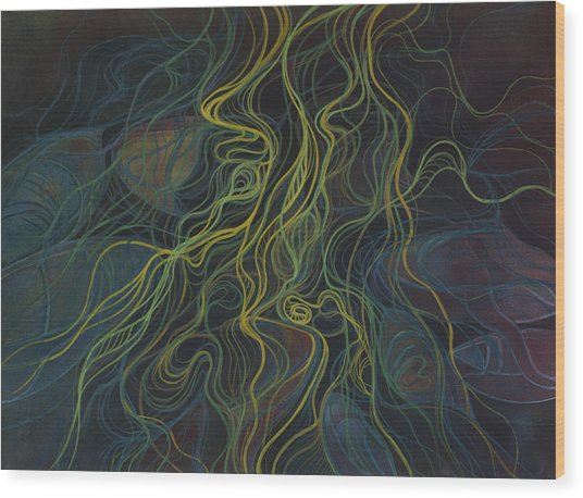Boats Tangled In Milfoil Wood Print
