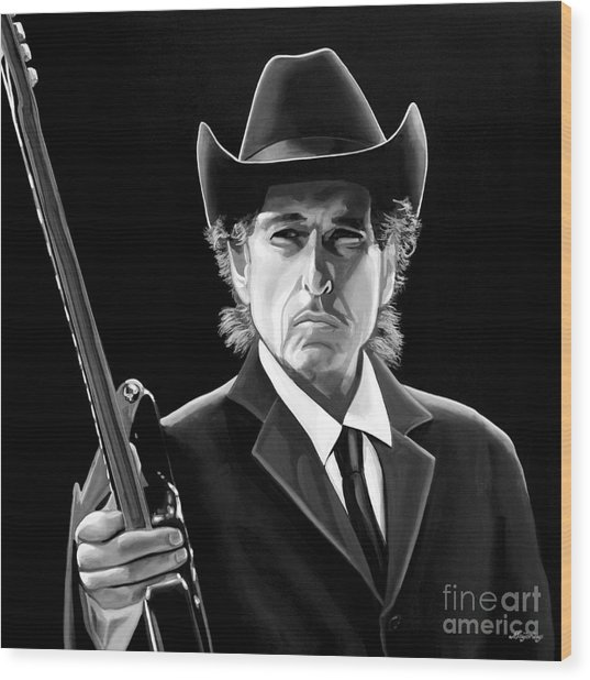 Bob Dylan 2 Wood Print by Meijering Manupix