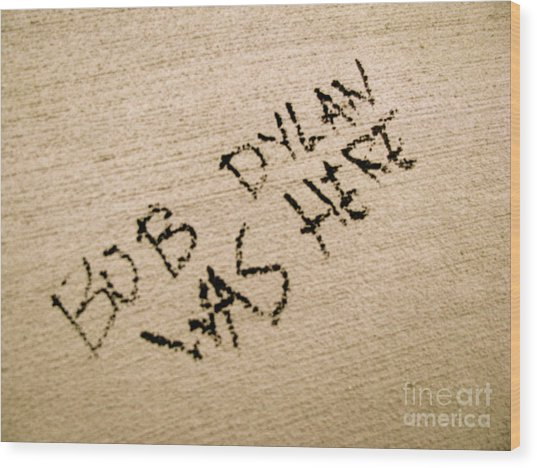 Bob Dylan Graffiti Wood Print