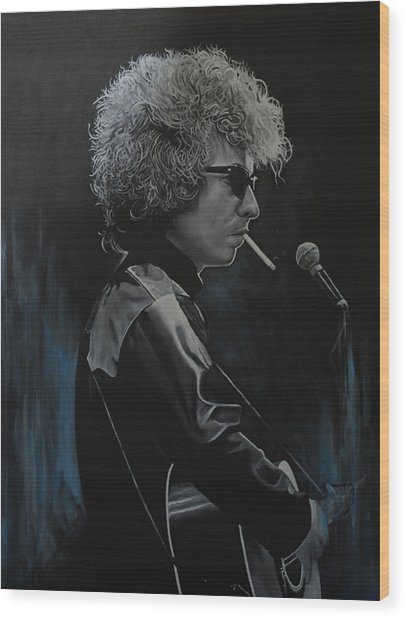 Bob Dylan 'tangled Up In Blue' Wood Print