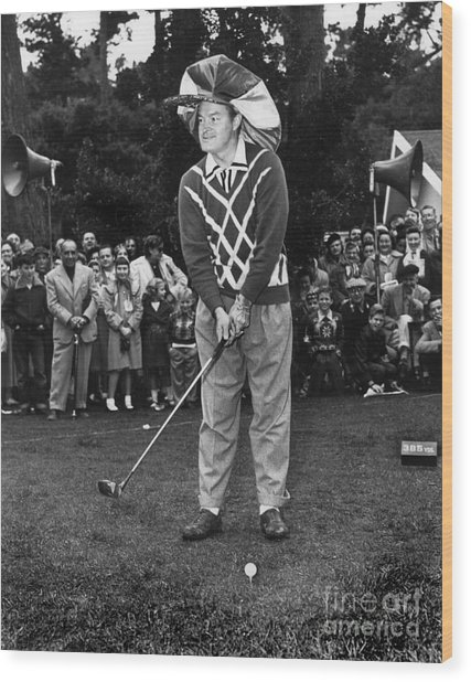 Bob Hope At Bing Crosby National Pro-am Golf Championship  Pebble Beach Circa 1955 Wood Print