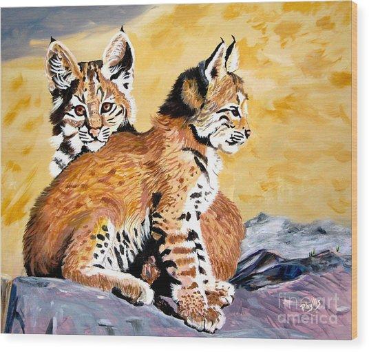 Bob Kittens Wood Print