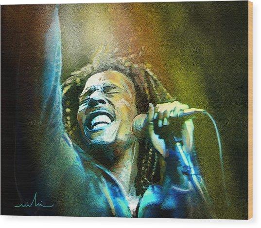Bob Marley 06 Wood Print
