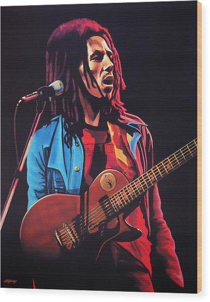 Bob Marley 2 Wood Print