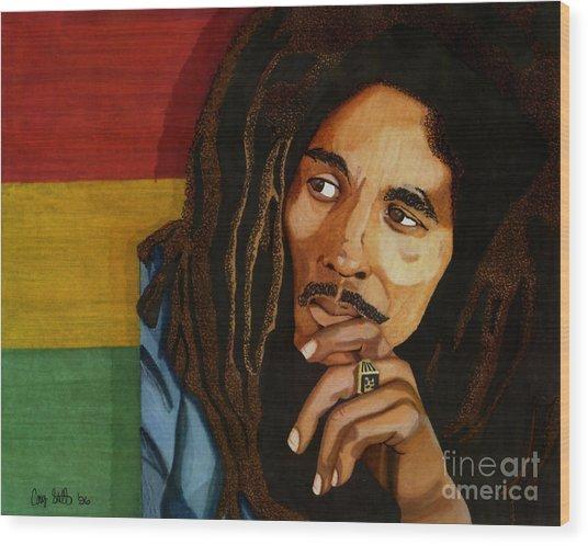 Bob Marley Legend Wood Print