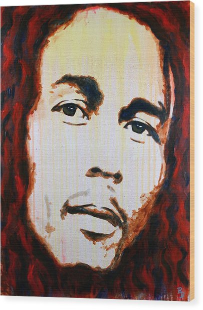 Bob Marley Reggae Icon Wood Print