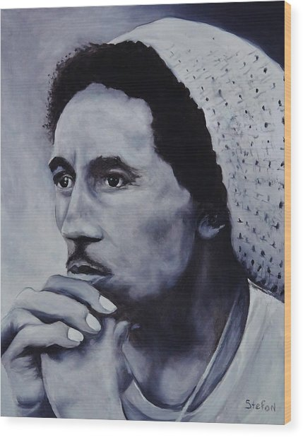 Bob Marley Wood Print by Stefon Marc Brown
