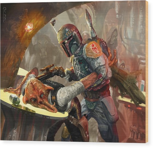 Boba Fett - Star Wars The Card Game Wood Print