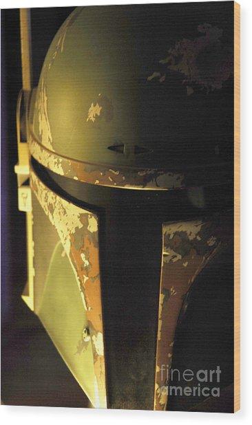 Boba Fett Helmet 124 Wood Print