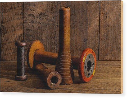 Bobbins And Spools Wood Print