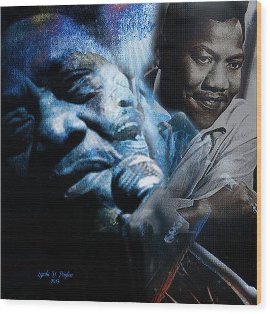 Bobby Blue Bland Wood Print by Lynda Payton