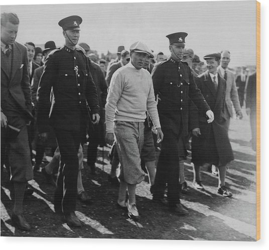 Bobby Jones Walking Being Escorted By Police Wood Print