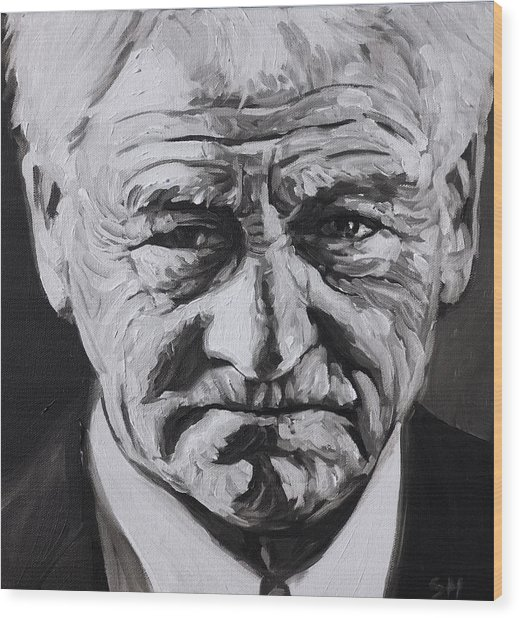 Bobby Robson Wood Print