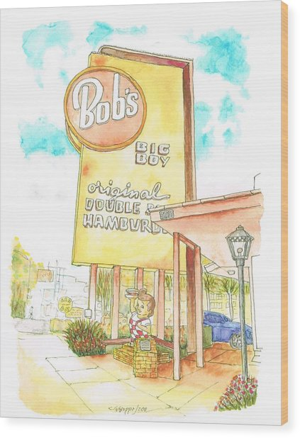 Bob's Big Boy In Burbank, California Wood Print