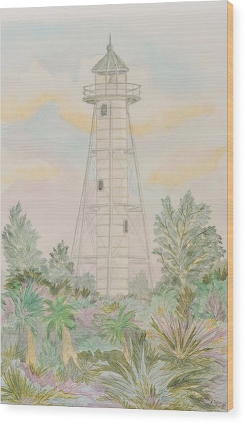 Boca Grande Lighthouse Wood Print