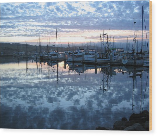 Bodega Bay Sunrise Wood Print
