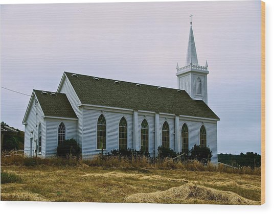 Bodega Church Wood Print