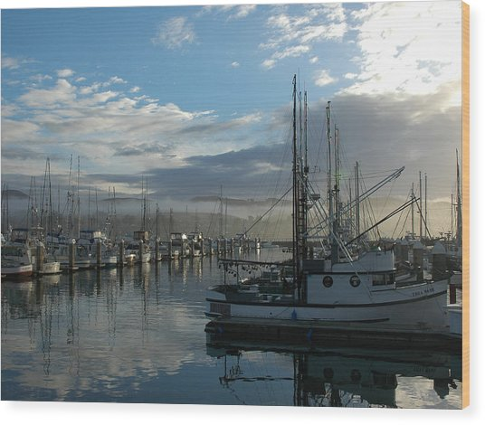 Bodega Fishing Boats Wood Print