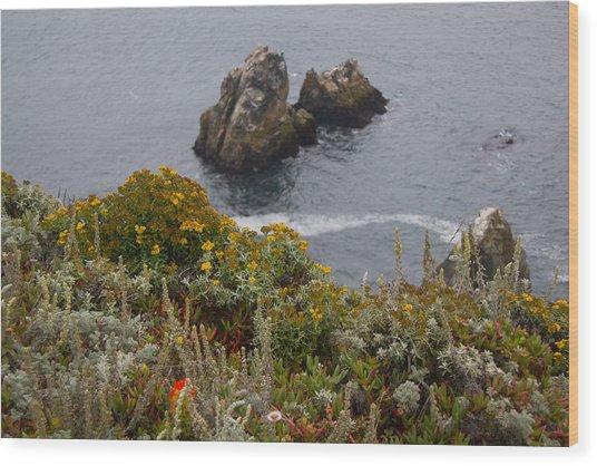 Bodega Flowers Wood Print
