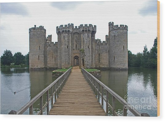 Bodiam Castle Wood Print