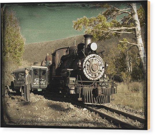Wood Print featuring the photograph Bodie And Benton Road Crossing by David Bailey