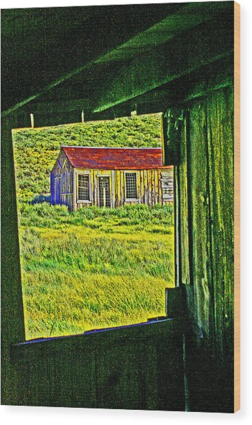 Bodie Ca From My Window Wood Print