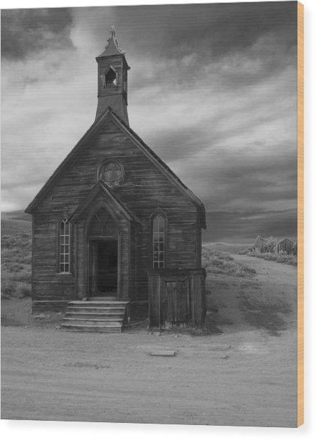 Bodie Church Wood Print