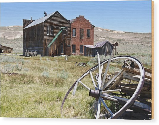 Bodie Ghost Town 3 - Old West Wood Print