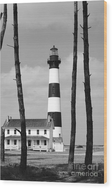 Bodie Island Lighthouse In The Outer Banks Wood Print