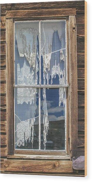 Bodie Window Wood Print